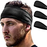 Stirnband Damen und Herren   Haarband Sport Schweißband mit Anti-Rutsch-Streifen   Sport Stirnband für alle Kopfgrößen