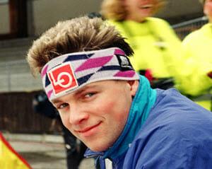 Stirnbänder für Herren: Roger Strøm, Eisschnellläufer aus Norwegen, trägt ein Stirnband.